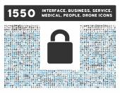 Lock Icon and More Interface Business Tools People Medical Awards Flat Vector Icons