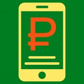 Rouble Mobile Payment Flat Icon