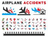 Aviation Accidents Vector Icons