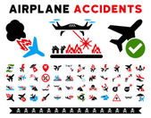 Aircraft Accidents Vector Icons