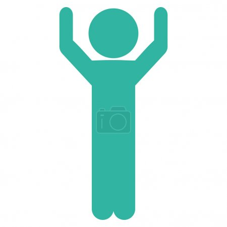 Person Hands Up Icon