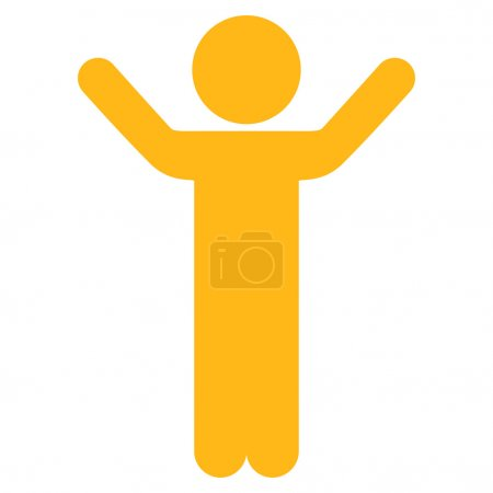 Hands Up Male Icon