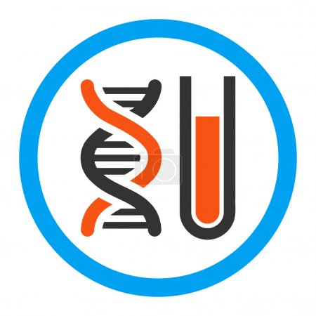Illustration for Genetic Analysis vector icon. Style is flat rounded symbol, bright colors, rounded angles, white background. - Royalty Free Image