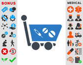 Medication Shopping Cart Icon
