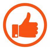 Hüvelykujját, lekerekített Vector Icon