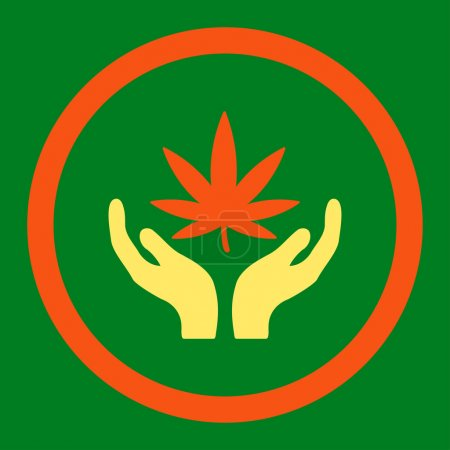 Cannabis Care Rounded Vector Icon