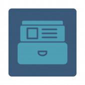Index pole zaoblené čtvercové tlačítko