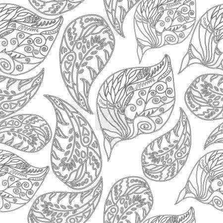 black-and-white seamless pattern