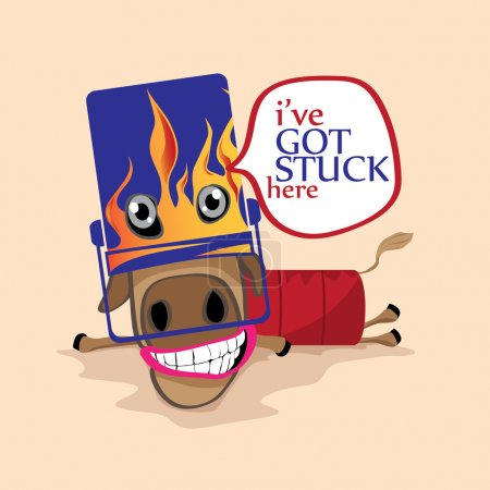 Illustration for Jokes with horse. Illustration for any jokes use. - Royalty Free Image