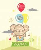 Koala Playing Balloons