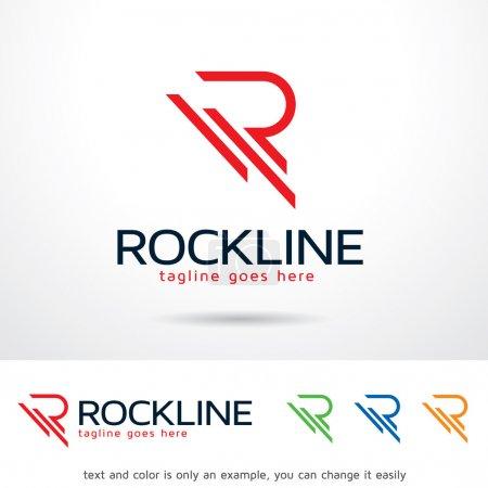 Rockline Lettre R Modèle de logo vecteur de conception
