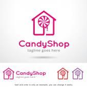 Candy Shop Logo Template Design Vector