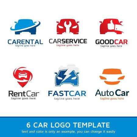 Illustration pour Cette image adaptée au logo, icône, site Web et autres fins, texte, couleur et forme peut être modifiée - image libre de droit