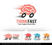 Think Fast Logo Template Design Vector