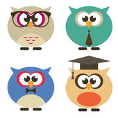 owl vector set of students