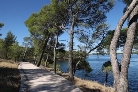 Photo for St. Anthony Canal, Sibenik, Croatia. The road along the coast of the canal. - Royalty Free Image