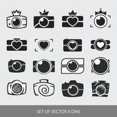 Photos Logo. Camera, logo vector set. Trendy Hipster camera. pho