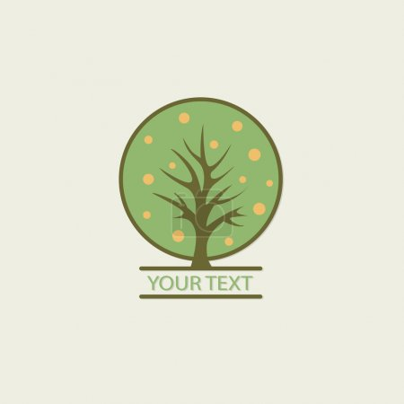 Illustration for Tree vector logo design template. Garden logotype creative concept. Eco idea ecology icon - Royalty Free Image