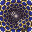 Optical illusion illustration. Two balls with a he...