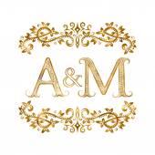 A&M vintage initials logo symbol