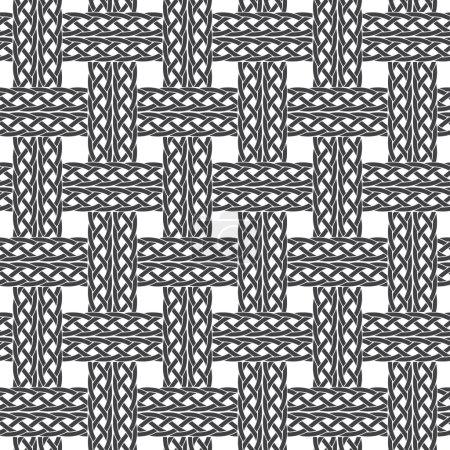 Illustration pour Modèle sans couture de cordes entrecroisées avec swatch pour le remplissage. Texture ornement de mode. Mode fond géométrique pour le web ou la conception d'impression . - image libre de droit