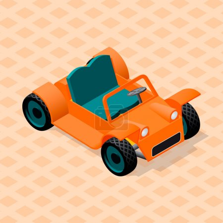 Isometric retro car model