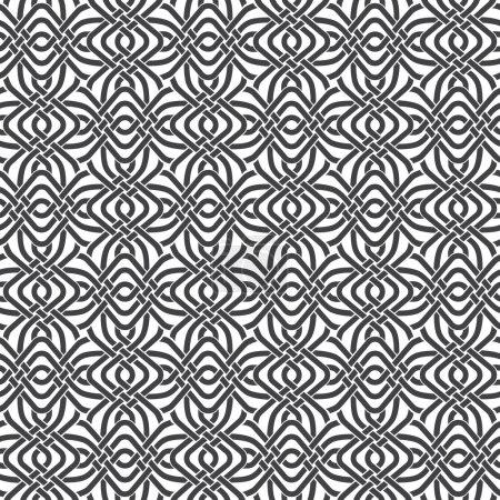 Illustration pour Modèle sans couture de bandes tressées avec swatch pour le remplissage. Texture ornementale abstraite. Mode fond géométrique pour le web ou la conception d'impression . - image libre de droit