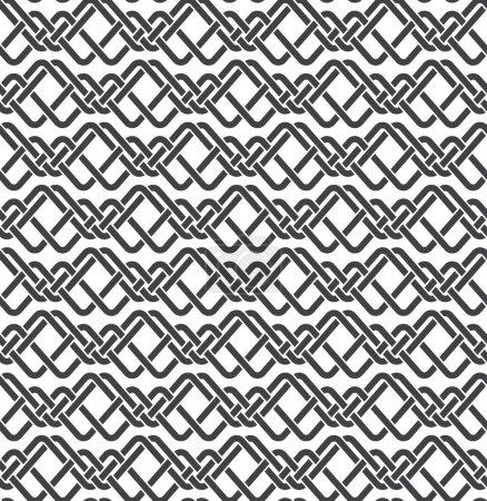 Illustration pour Modèle sans couture de tresses parallèles avec swatch pour le remplissage. Texture ornementale celtique. Mode fond géométrique pour le web ou la conception d'impression . - image libre de droit