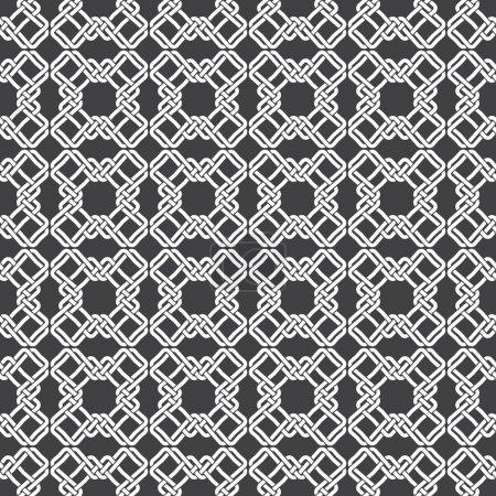Illustration pour Modèle sans couture de croix tressées avec swatch pour le remplissage. Texture ornementale celtique. Mode fond géométrique pour le web ou la conception d'impression . - image libre de droit
