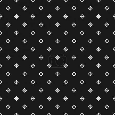Seamless pattern with white outlined studs on black background