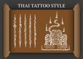 Thai Tattoo Ancient style