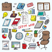 Set of elemets of work in office