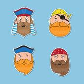 Sada emocionální pirátů. Různé tváře emocionální