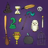 Set of different wicth equipment