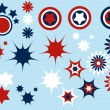 Blue red and white symbols set vector - could be a...