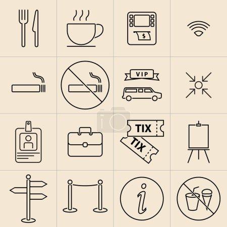 Exhibition Line Icons
