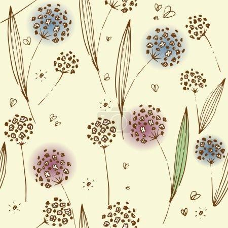 Illustration pour Modèle de fleurs sur fond de lait - image libre de droit