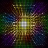 Rozmazané světla svítící disco