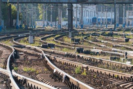 Railroad tracks early morning
