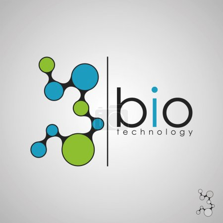 Illustration for Bio logo, biology design, bio concept logo, DNA logo - Royalty Free Image