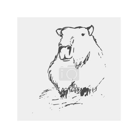 Capybara abstract drawing