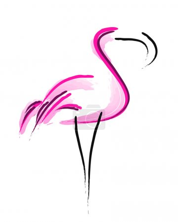 Flamingos simple symbol