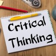 Critical Thinking - Note Pad With Text On Wooden T...