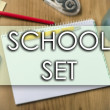 SCHOOL SET - business concept with text - horizont...