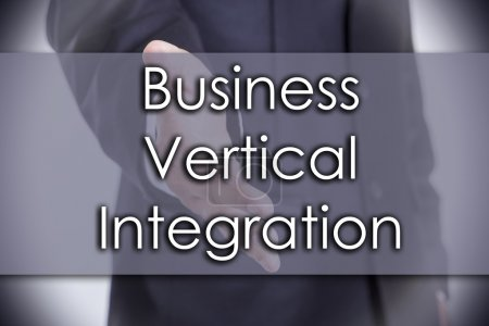 Photo for Business Vertical Integration - business concept with text - horizontal image - Royalty Free Image