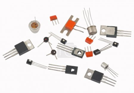 Photo for Transistors different type on a white background - Royalty Free Image