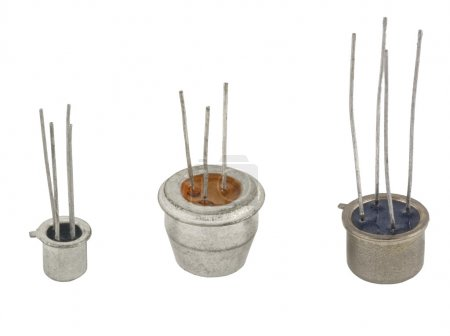 Photo for The different transistors on a white background - Royalty Free Image