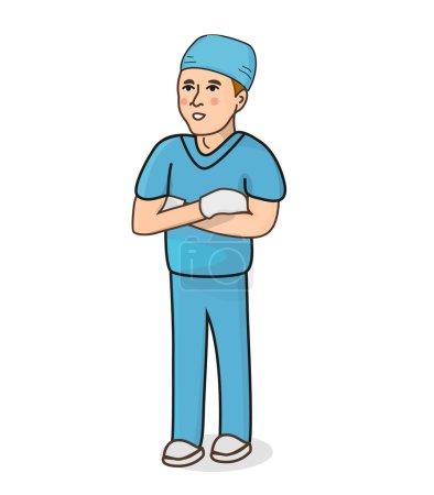 Male surgeon vector illustration