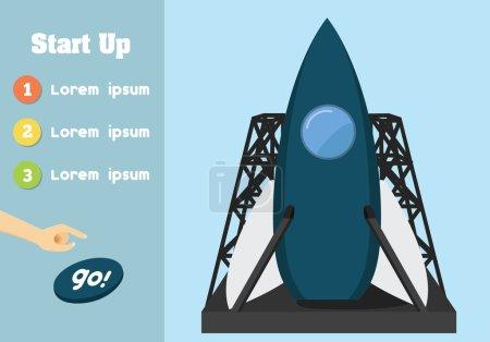 Illustration pour Unité de héros design plat tendance pour une utilisation dans le développement web . - image libre de droit