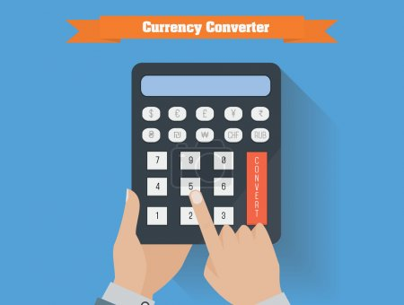 Currency converter vector illustration.